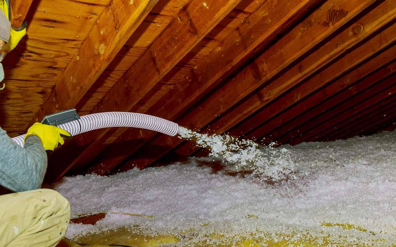 attic blown-in insulation